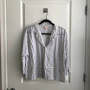 Casual Cotton Stripped Button Up